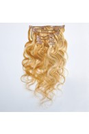50cm 7pcs Remy BODYWAVY HUMAN HAIR CLIP IN EXTENSION #12/613, 70g