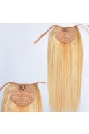 40cm Remy Ponytail Clip In Human Hair Extensions #27/613,80g