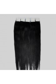 40cm Remy Tape Hair Extension #01, 30g & 20S