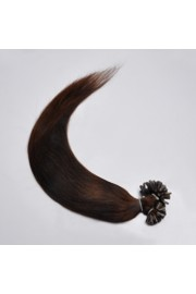 100S 40cm Full Head, Indian Remy Human Hair Extensions,Nail Tip #02,100g