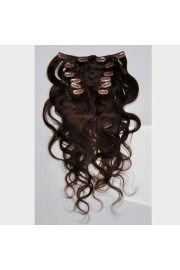 50cm 7 pcs Remy BODYWAVY HUMAN HAIR CLIP IN EXTENSION #02, 70g