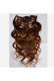 50cm 7 pcs Remy BODYWAVY HUMAN HAIR CLIP IN EXTENSION #04, 70g