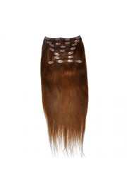 50cm 10pcs REMY HUMAN HAIR CLIP IN EXTENSION #04, 160g