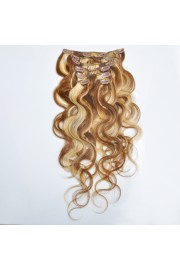 50cm 7pcs Remy BODYWAVY HUMAN HAIR CLIP IN EXTENSION #06/613, 70g