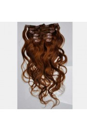 50cm 7pcs Remy BODYWAVY HUMAN HAIR CLIP IN EXTENSION #06, 70g