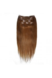 50cm 8pcs Remy HUMAN HAIR CLIP IN EXTENSION #06, 100g