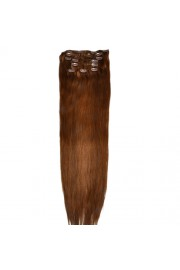 """75cm 8 pcs Remy HUMAN HAIR CLIP IN EXTENSION #08,34"""" wide 120g"""