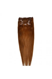"""65cm 8 pcs Remy HUMAN HAIR CLIP IN EXTENSION #08,34"""" wide 120g"""