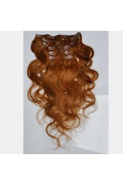 50cm 7pcs Remy BODYWAVY HUMAN HAIR CLIP IN EXTENSION #08, 70g