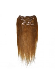 50cm 8pcs REMY HUMAN HAIR CLIP IN EXTENSION #08, 100g