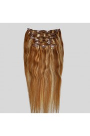 50cm 8pcs REMY HUMAN HAIR CLIP IN EXTENSION #12/613, 100g