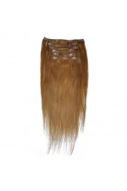 50cm 8pcs REMY HUMAN HAIR CLIP IN EXTENSION #12, 100g