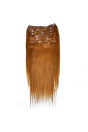 50cm 10pcs REMY HUMAN HAIR CLIP IN EXTENSION #12, 160g
