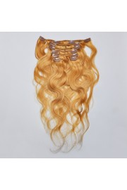 50cm 7pcs Remy BODYWAVY HUMAN HAIR CLIP IN EXTENSION #16, 70g