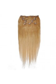 50cm 8pcs Remy HUMAN HAIR CLIP IN EXTENSION #18, 100g