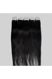 55cm Remy Tape Hair Extension #1B, 50g & 20S