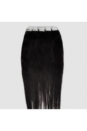 65cm Remy Tape Hair Extension #1B, 70g & 20S