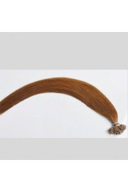100S 50cm Remy Flat Tip Human Hair Extensions #06,50g
