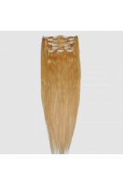 """65cm 8 pcs Remy HUMAN HAIR CLIP IN EXTENSION #22,34"""" wide 120g"""