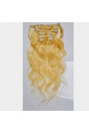 50cm 7pcs Remy BODYWAVY HUMAN HAIR CLIP IN EXTENSION #22, 70g