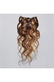 50cm 7pcs Remy BODYWAVY HUMAN HAIR CLIP IN EXTENSION #04/613, 70g