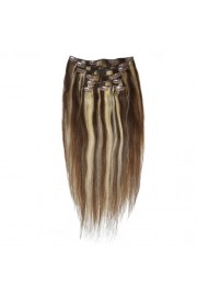 50cm 8pcs REMY HUMAN HAIR CLIP IN EXTENSION #04/613, 100g