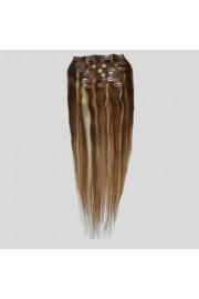 50cm 8pcs Remy HUMAN HAIR CLIP IN EXTENSION #06/613, 100g