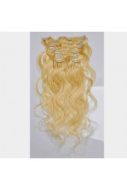 50cm 7pcs Remy BODYWAVY HUMAN HAIR CLIP IN EXTENSION #613, 70g