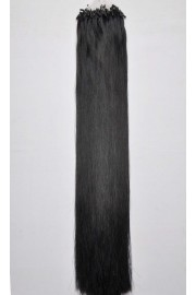Double Drawn Remy Human Hair Extensions 100s 50cm Loop/Ring #01, 100g
