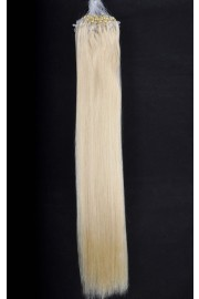 Double Drawn Remy Human Hair Extensions 100s 60cm Loop/Ring #613, 100g
