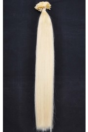 Double Drawn Remy Human Hair Extensions 100s 55cm Nail Tip #613, 100g