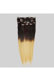 Remy Balayage/Ombre 50cm human hair clip in extensions #02/27,8pcs