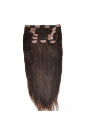 Remy Human Hair 40cm Double Drawn Clip In Extensions #02, 8pcs