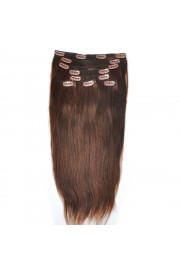 Remy Human Hair 40cm Double Drawn Clip In Extensions #04, 8pcs