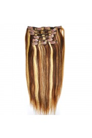 Remy Human Hair 40cm Double Drawn Clip In Extensions #04/613, 8pcs