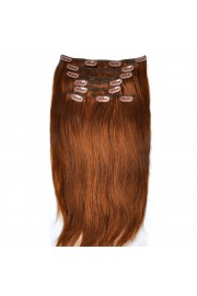 Remy Human Hair 40cm Double Drawn Clip In Extensions #06, 8pcs