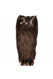 Remy Human Hair 55cm Double Drawn Clip In Extensions #02, 8pcs