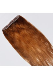 55cm Indian Remy Human Hair One Piece Volumizer Clip In Extensions #06, 60g