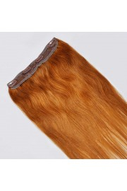 45cm Indian Remy Human Hair One Piece Volumizer Clip In Extensions #08, 55g