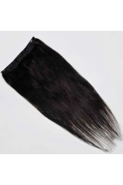 55cm Indian Remy Human Hair One Piece Volumizer Clip In Extensions #1B, 60g