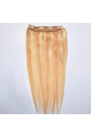 55cm Indian Remy Human Hair One Piece Volumizer Clip In Extensions #27/613, 55g