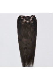 Full Head 45cm Indian Remy Human Hair Clip In Extensions #02,8pcs