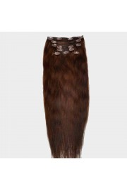 Full Head 55cm Indian Remy Human Hair Clip In Extensions #04,8pcs