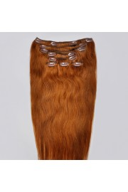 Full Head 50cm Indian Remy Human Hair Clip In Extensions #08,8pcs
