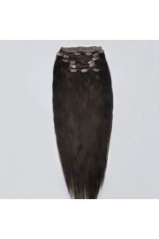 Deluxe 40cm Indian Remy Full Head Human Hair Clip In Extensions #02,9pcs