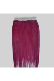 45cm Remy Tape Hair Extension #lila, 50g & 20S