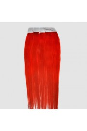 45cm Remy Tape Hair Extension #rot, 50g & 20S
